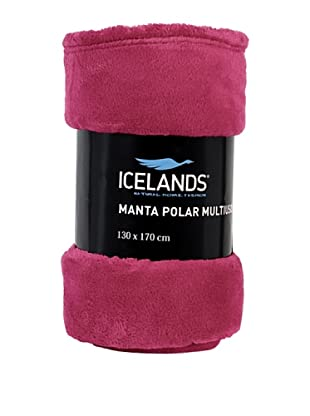 Icelands Manta Microfibra De Viaje 250 Gr (Rosa)