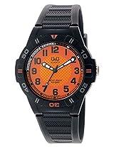 Q&Q Regular Analog Orange Dial Men's Watch - GW36J004Y