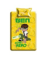 Omniverse Single Bed Sheet With One Pillow Cover Yellow from Ben 10