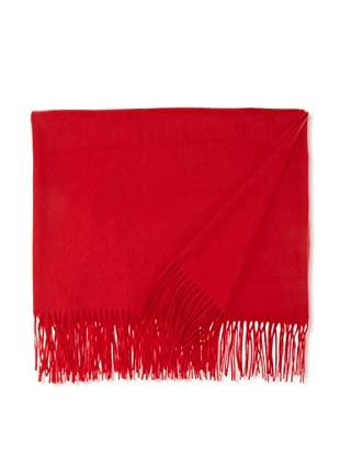 Sofia Cashmere Fringed Woven Throw, Cardinal, 55