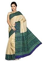 Somya Women's Bhagalpuri Silk Printed Turquoise Blue Saree