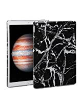 iPad Pro Case, GMYLE Snap Cover Glossy for iPad Pro - Black Marble Pattern Slim Hard Back Case