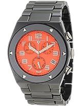 Swiss Legend Watches, Men's Throttle Chronograph Orange Dial Black Ceramic, Model 10028-BKOSA