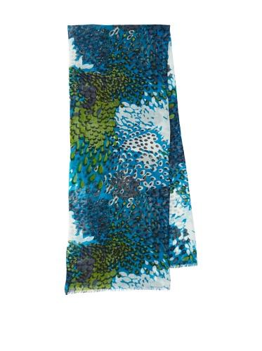 Lulla by Bindya Women's Pheasant Wool Scarf (Turquoise)