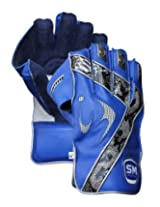 SM Vigour Wicket Keeping Gloves Player's Edition, Men's (Blue/Black)