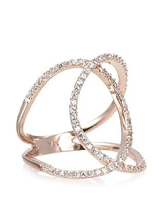 Melanie Auld Rose Pavé Double Ring