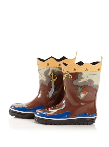Kidorable Pirate Rain Boot (Toddler/Little Kid) (Brown)