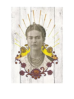 ReallyNiceThings Panel de Madera Frida Collage