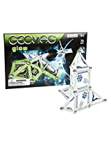 Geomag 76-Piece Glow-in-the-Dark Space Construction Set - Mentally Stimulating for Children and Adults - Safe and High Quality Construction - For Ages 3 and Up