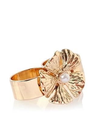 Tuleste Market 2-Finger Flower Ring, Gold