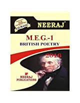 MEG1-British Poetry (IGNOU help book for MEG-1)