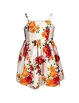 Shoppertree Girls' Dress (ST-1391_Multicolour_5-6 Years)