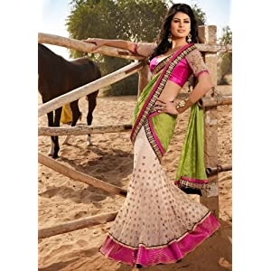 Pretty and Charming Net Lehenga Style Saree with Blouse - TBSANKK6013