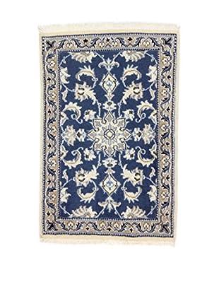 Eden Teppich Nain K blau/lehmbraun 60 x 90 cm