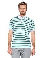 Cortefiel Polo Botones (gris / verde)