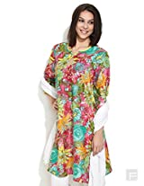 Bold For Summer Floral Kurta -Multi Colour-L