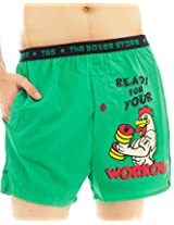 The Boxer Store's Workout Boxer for Men - Green (Small)