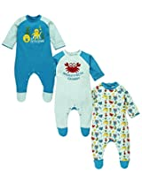 Snuggles Full Sleeve Round Neck Sleepsuit: Pack of 3