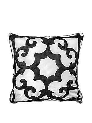 Polysatin Pillow, Black/White