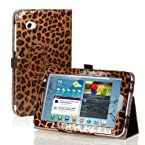 Century Accessory Leopard Pattern Brown PU Leather Case Cover Stand For Samsung Galaxy Tab 2 7.0 P3100 P3110
