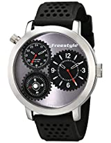 Freestyle Men's 101163 Passage 1-Piece Case Compass Silicone Strap Watch