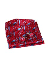 EEF7B03C Red Blue Paisley Mens Cufflinks Set Young Handkerchief Woven Microfiber Wholesale Pocket Square By Epoint