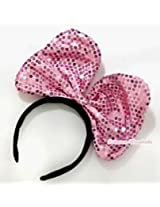 Theme My Party Sequins Minnie Mouse hairband (Color may Differ)