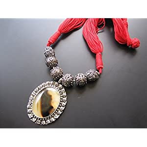 Dreamz Jewels Cotton Cord Necklace In Red