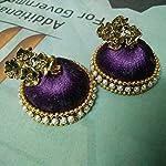 Violet silk thread jhumki
