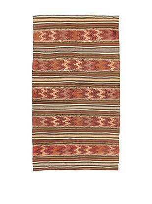 Design Community By Loomier Teppich Kilim Caucasico rot/mehrfarbig 146 x 260 cm