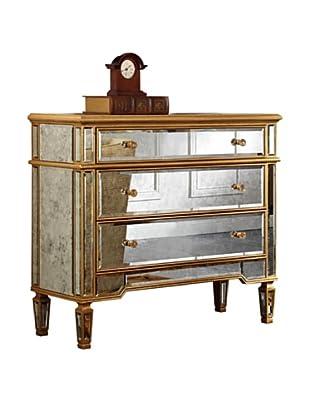 Florentine 3-Drawer Cabinet, Gold Leaf/Antique Mirror