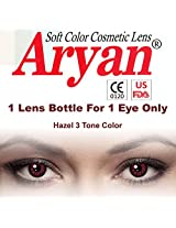 Aryan Hazel 3Tone Colour Yearly Contact Lens 1 Lens Pack By Visions India -0.00