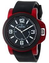 August Steiner Men's AS8057RD Quartz Sport Silicone Strap Watch
