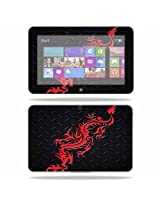 Protective Skin Decal Cover for Dell XPS 10 Tablet 10.1 screen Sticker Skins Red Dragon