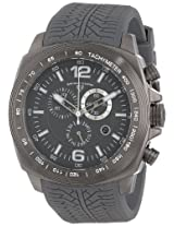 "Swiss Legend Men's ""Sprinter"" Gunmetal Ion-Plated Stainless Steel and Gray Silicone Watch"