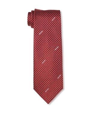 Moschino Men's Polka Dot Tie, Red