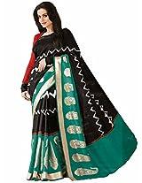 Samskruti Exclusive Kanchipuram Silk Black Paisley Saree