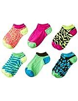 K. Bell Socks Little Girls' Mixed Animal Print 6 Pack NS