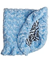BESSIE AND BARNIE Pet Blanket, X-Small, Versailles Blue/Blue Sky with Ruffle