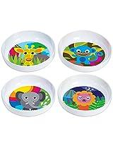 French Bull - BPA Free Kids Bowls - Melamine Kids Bowl Set - Kids Dinnerware - Jungle, Set of 4