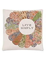 Heritage Lace Live Simply Quilted Wisdom Pillow Case, 18 by 18 , Oyster
