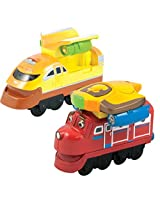 Chuggington StackTrack Duo Value Pack Die Cast Toy Trains for Toddlers Includes Jet Pack Wilson and