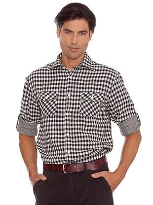 PEDRO DEL HIERRO Camisa Automáticos (Blanco / Negro)