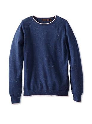 Agave Denim Men's Abeam Fine Gauge Raglan Crew Neck Shirt (Blue Depths)