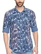 SPYKAR Men Cotton B.Indigo Casual Shirt (XX-Large)