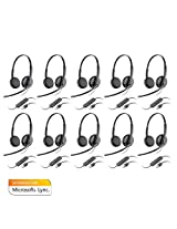 Plantronics Blackwire C325-M Microsoft Optimized Stereo Corded Headset (10-Pack)