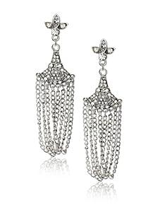 Leslie Danzis Antique Silver Art Deco Inspired Chandelier Earrings