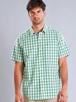Timberland Camisa Cuadros (Verde / Celeste / Blanco)