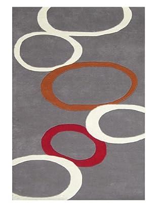 Horizon Beverly Hills Circles Rug (Grey/Multi)