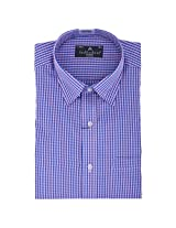Fashionbean Blue Check Shirt for Men